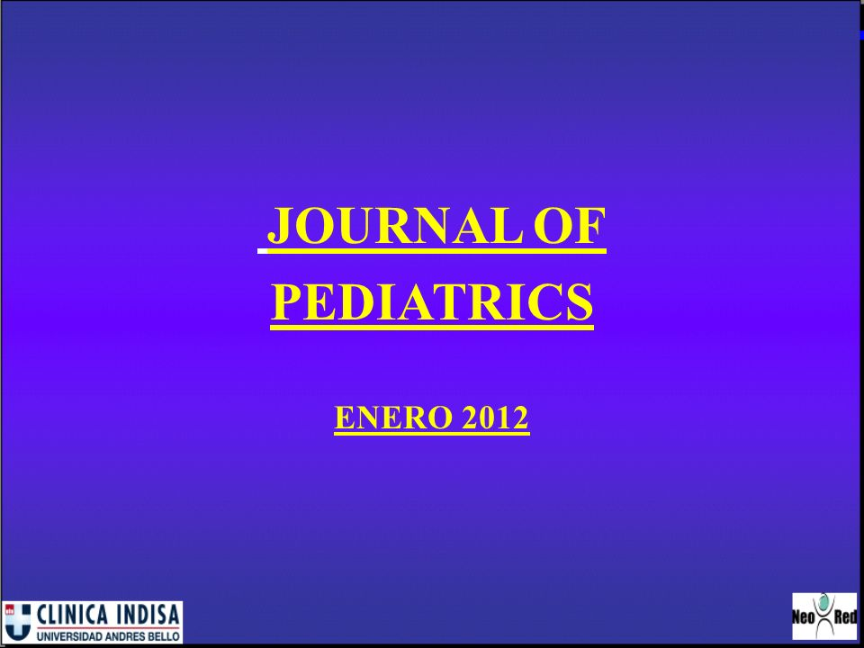 JOURNAL OF PEDIATRICS ENERO 2012