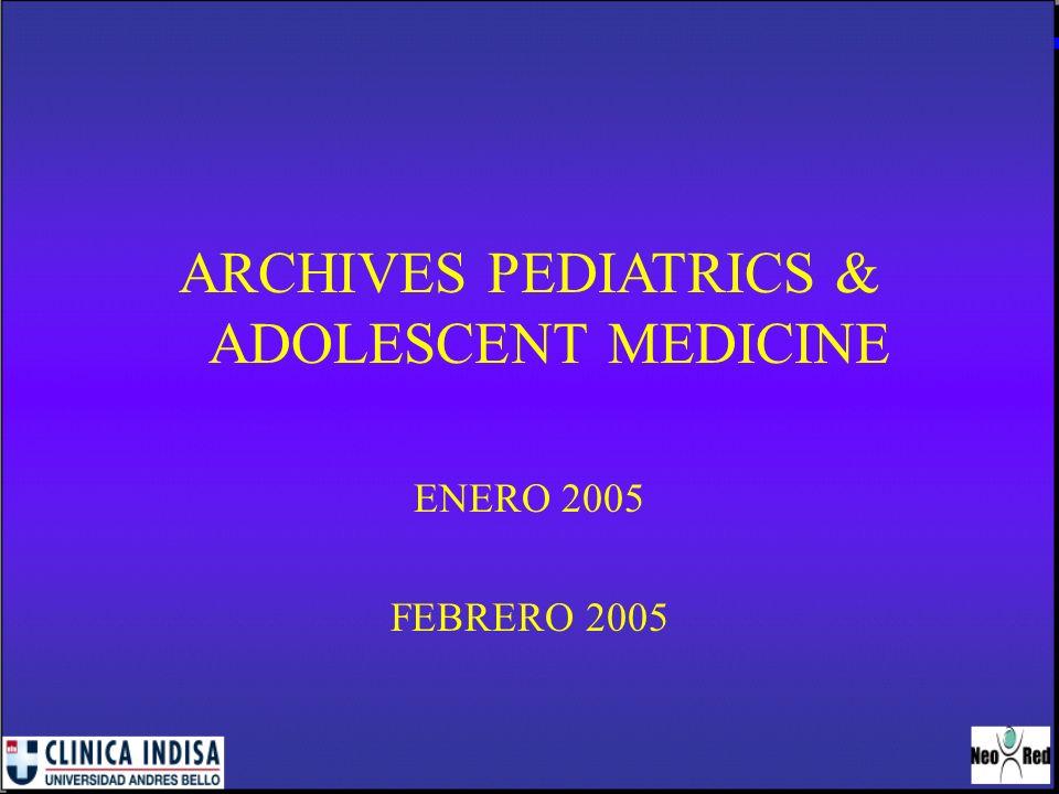 ARCHIVES PEDIATRICS & ADOLESCENT MEDICINE
