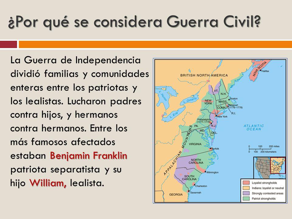 ¿Por qué se considera Guerra Civil
