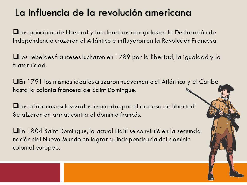 La influencia de la revolución americana