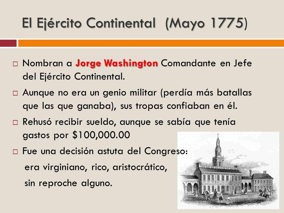 El Ejército Continental (Mayo 1775)