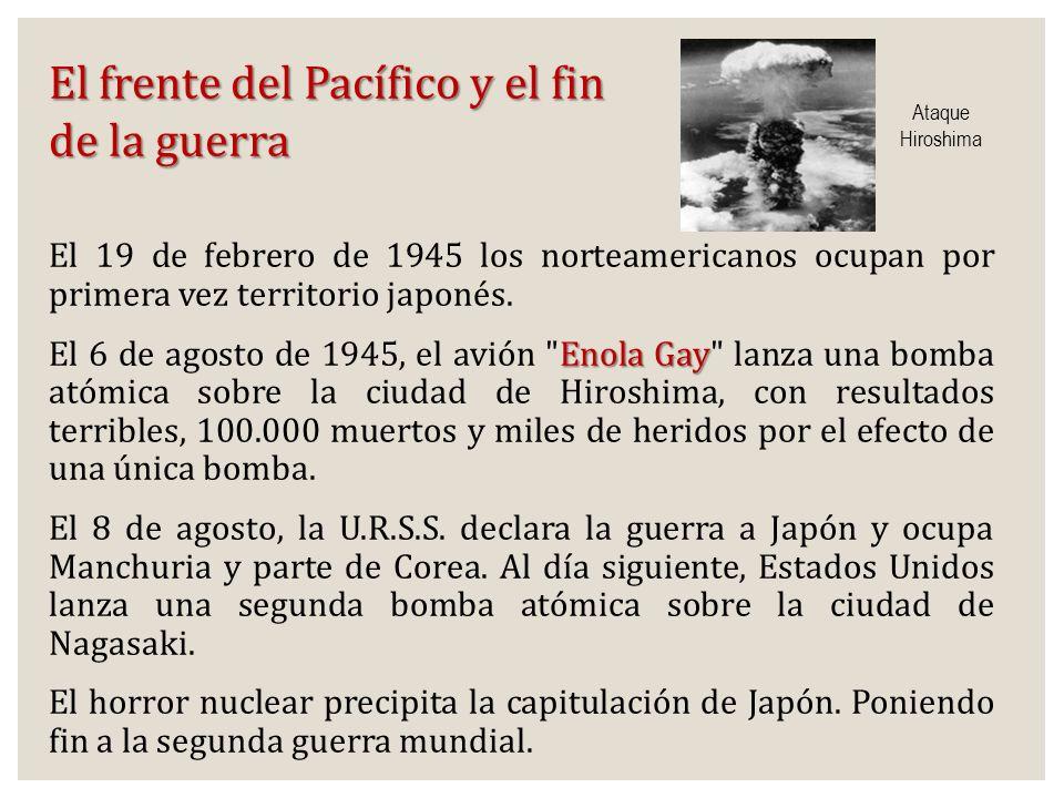 El frente del Pacífico y el fin de la guerra