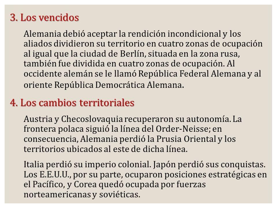 4. Los cambios territoriales