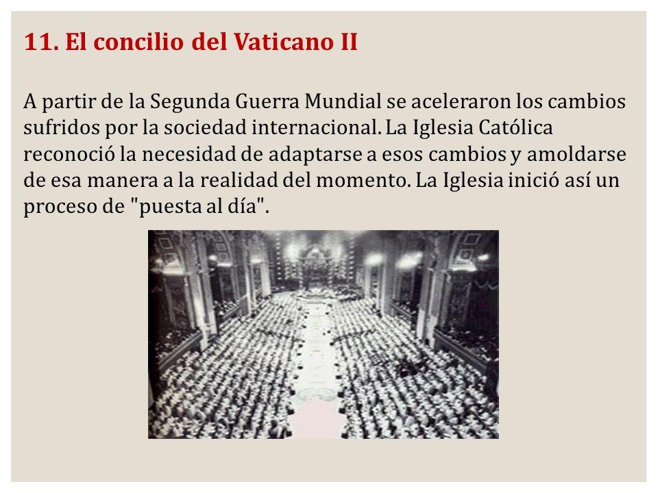 11. El concilio del Vaticano II