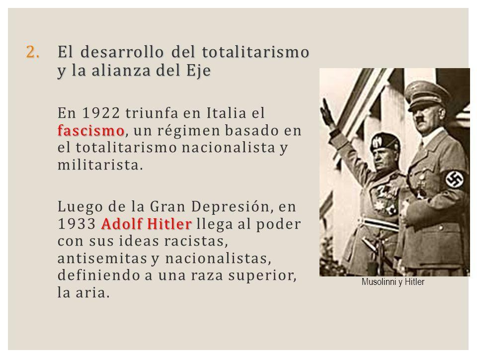 El desarrollo del totalitarismo y la alianza del Eje