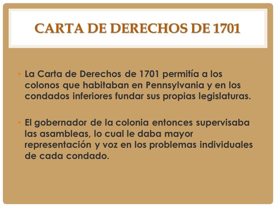 Carta de Derechos de 1701