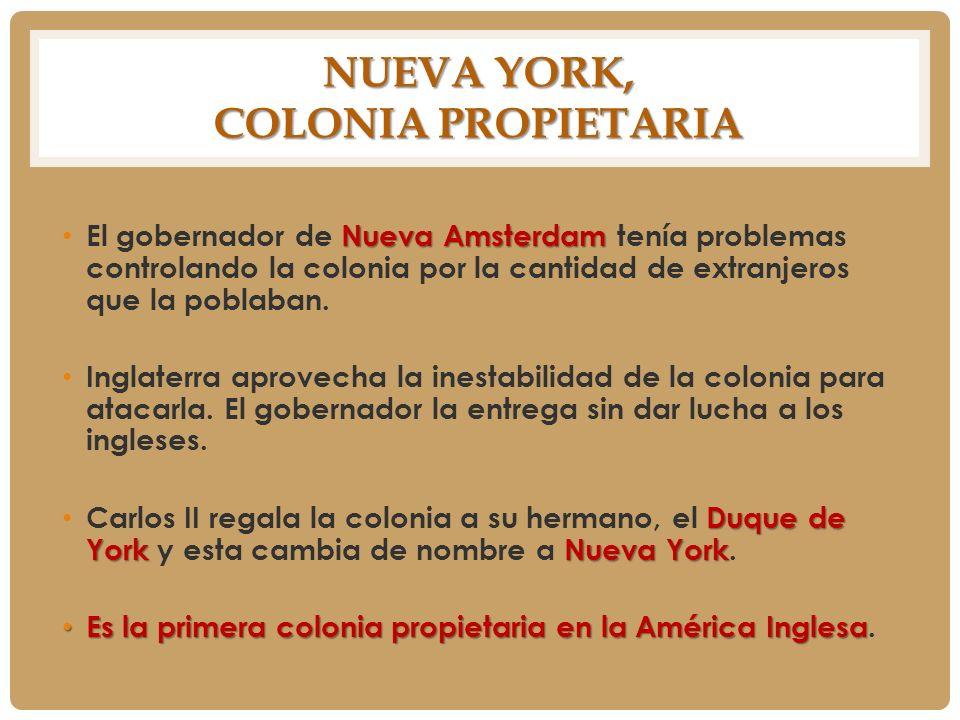 Nueva York, colonia propietaria