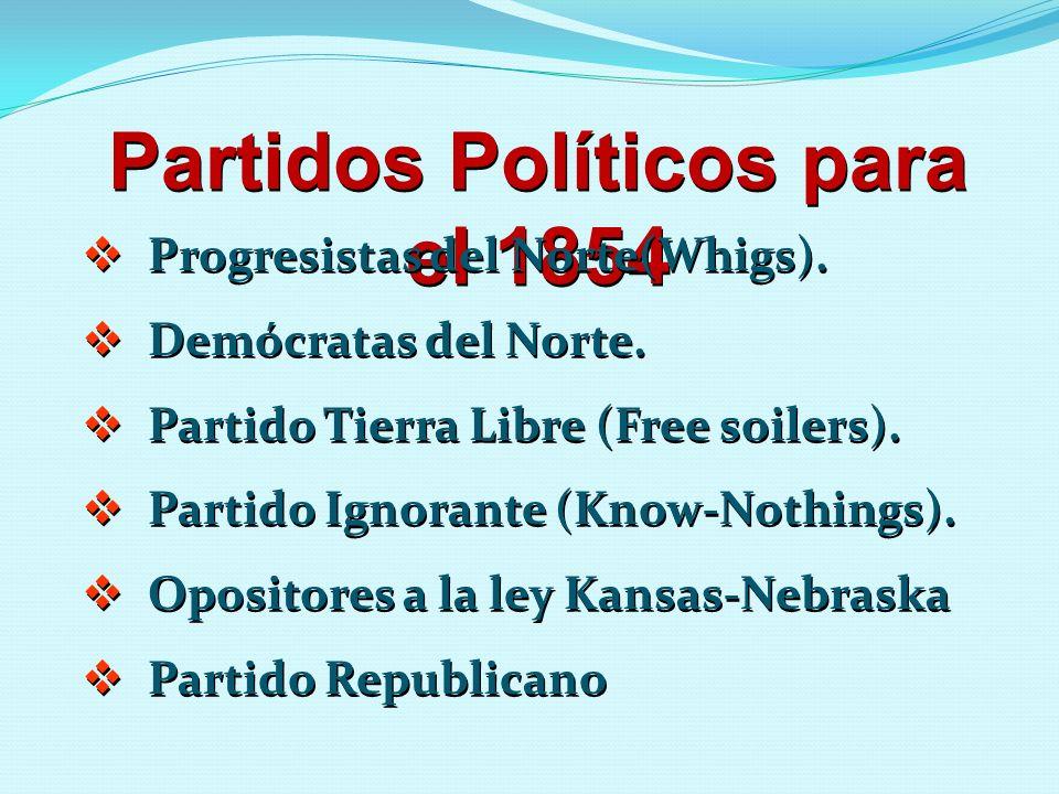 Partidos Políticos para el 1854