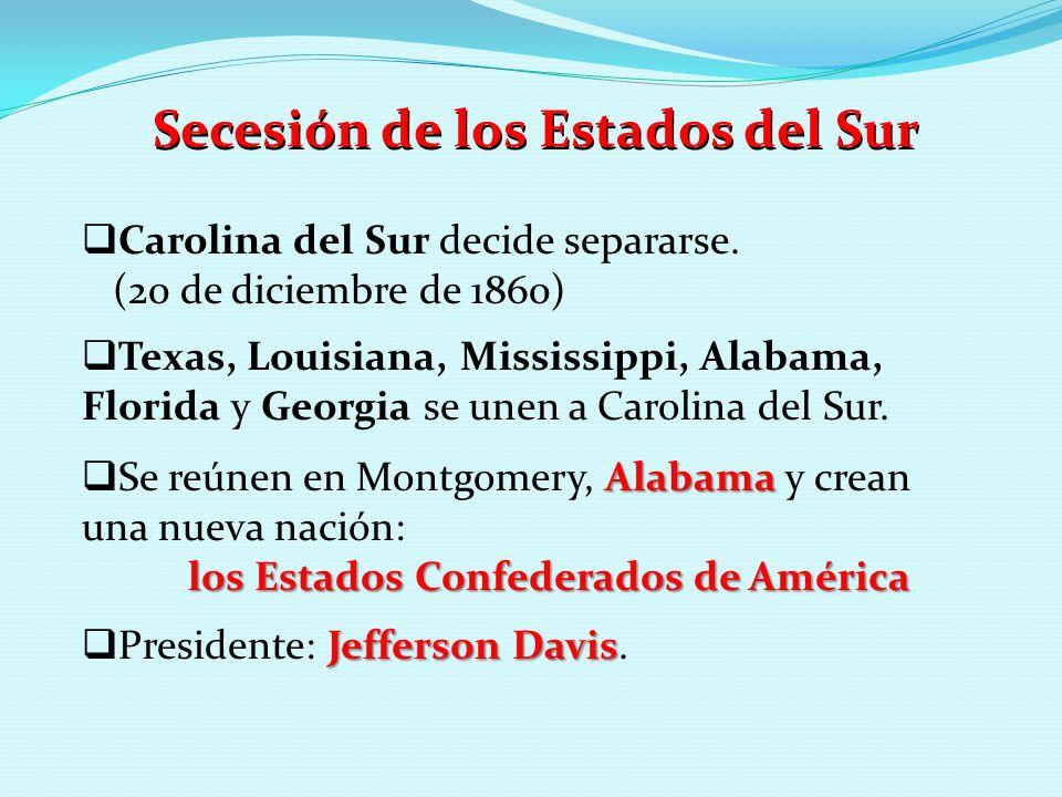 Secesión de los Estados del Sur