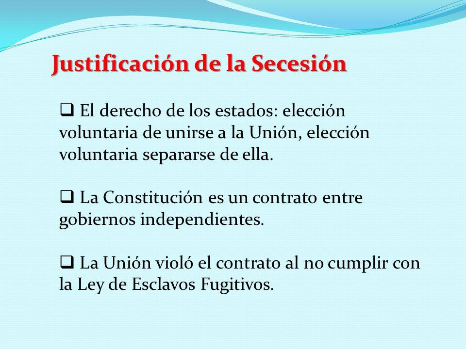 Justificación de la Secesión