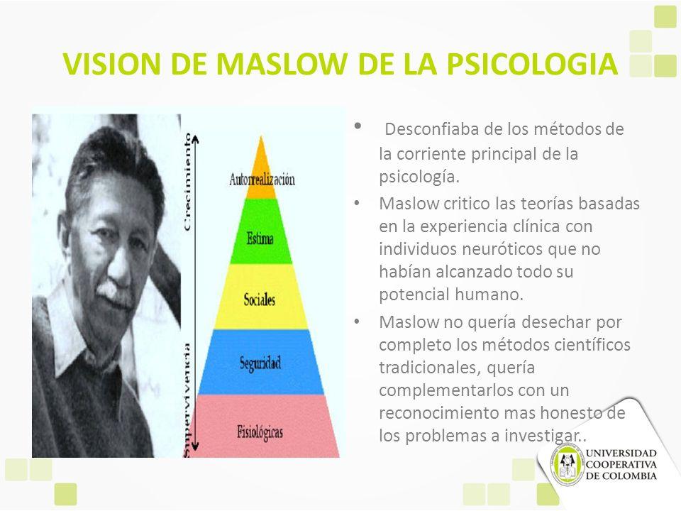 VISION DE MASLOW DE LA PSICOLOGIA