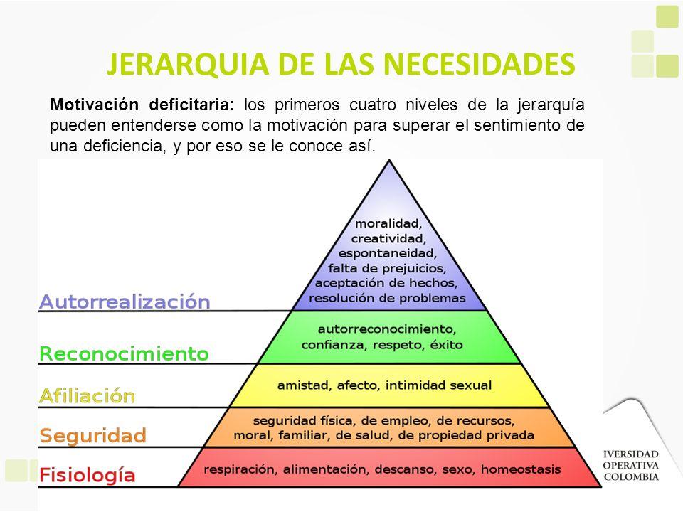 JERARQUIA DE LAS NECESIDADES