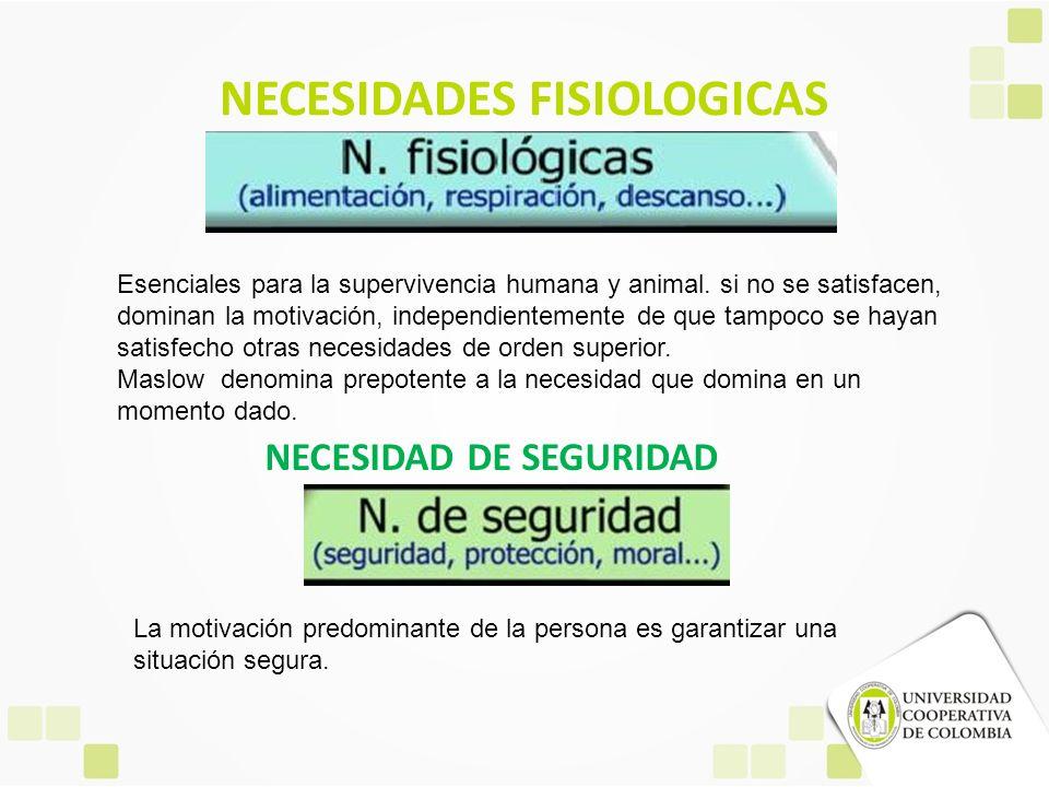 NECESIDADES FISIOLOGICAS