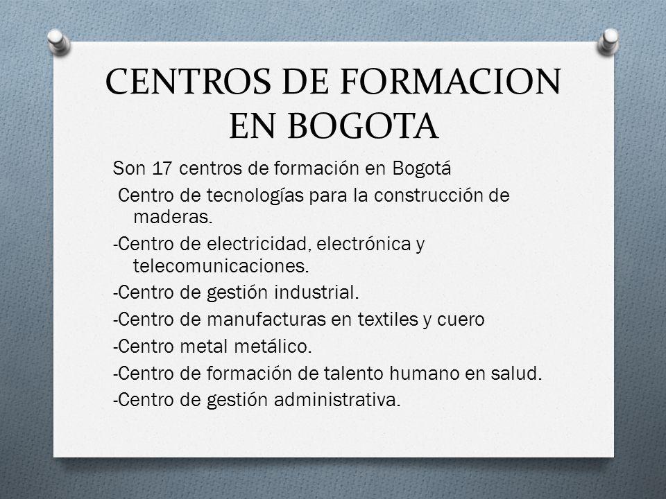 CENTROS DE FORMACION EN BOGOTA