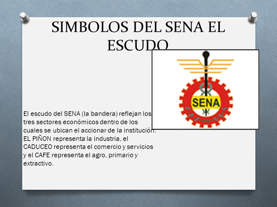 SIMBOLOS DEL SENA EL ESCUDO