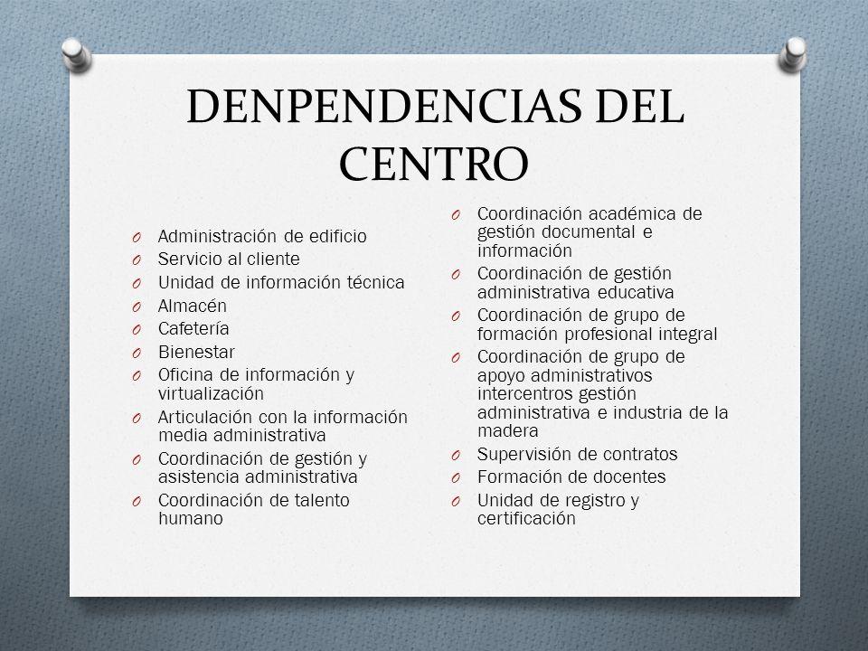 DENPENDENCIAS DEL CENTRO