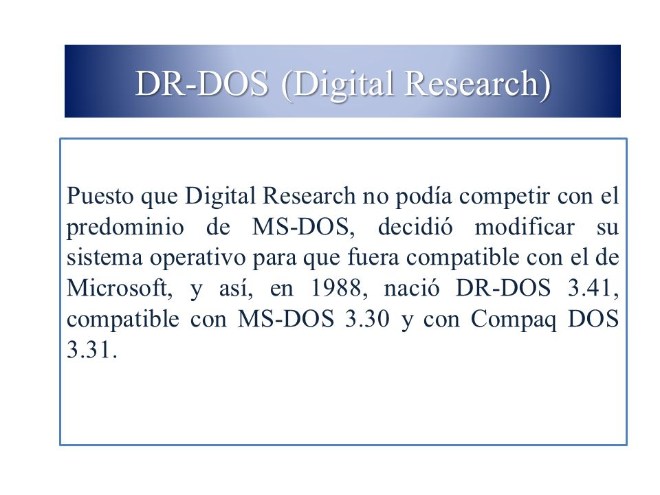 DR-DOS (Digital Research)