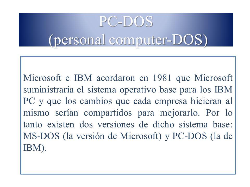 PC-DOS (personal computer-DOS)