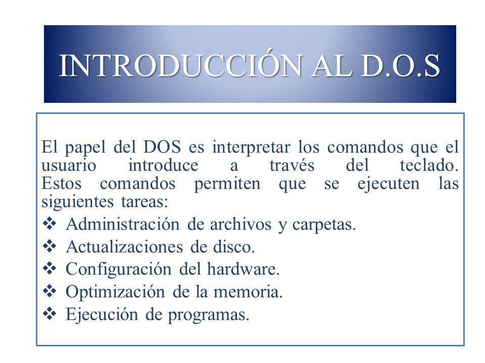 INTRODUCCIÓN AL D.O.S
