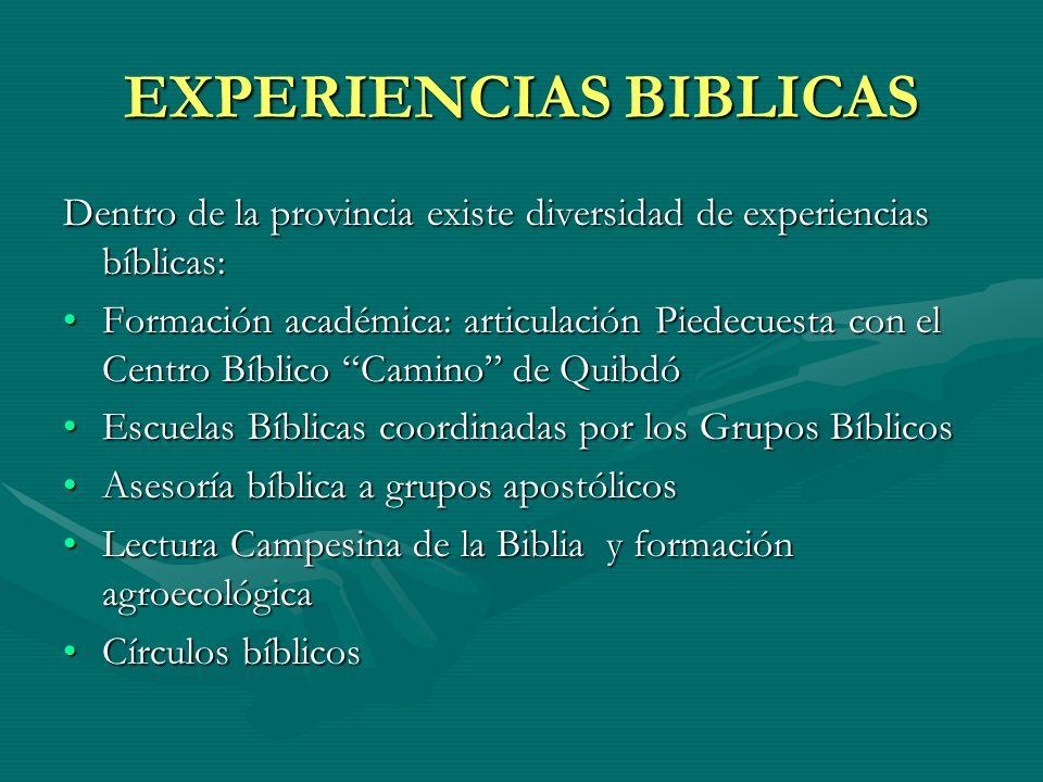 EXPERIENCIAS BIBLICAS