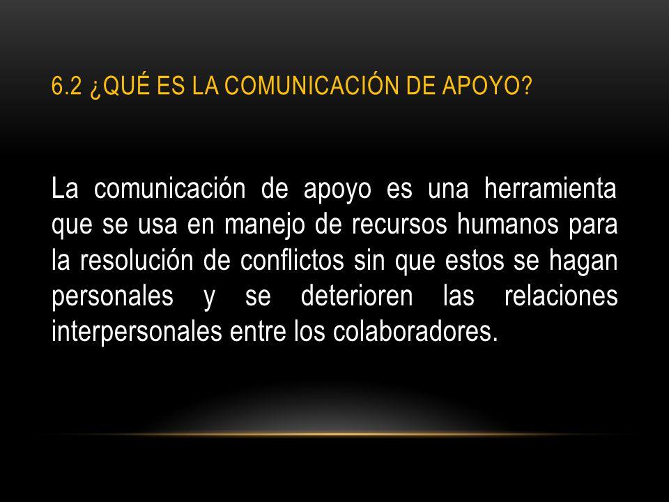 6.2 ¿Qué es la comunicación de apoyo