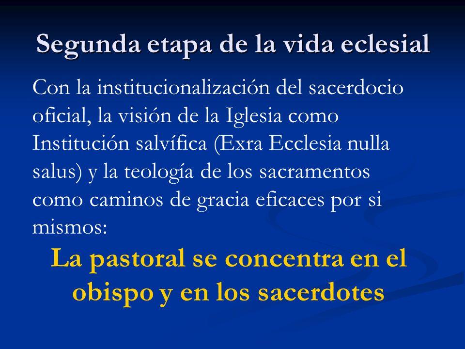 Segunda etapa de la vida eclesial