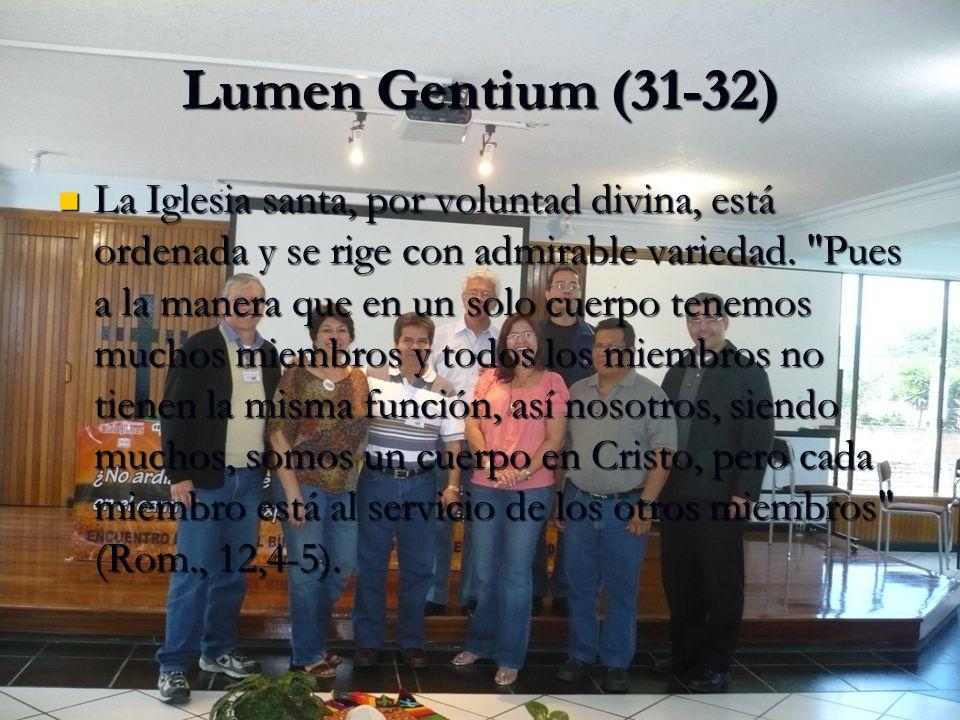 Lumen Gentium (31-32)