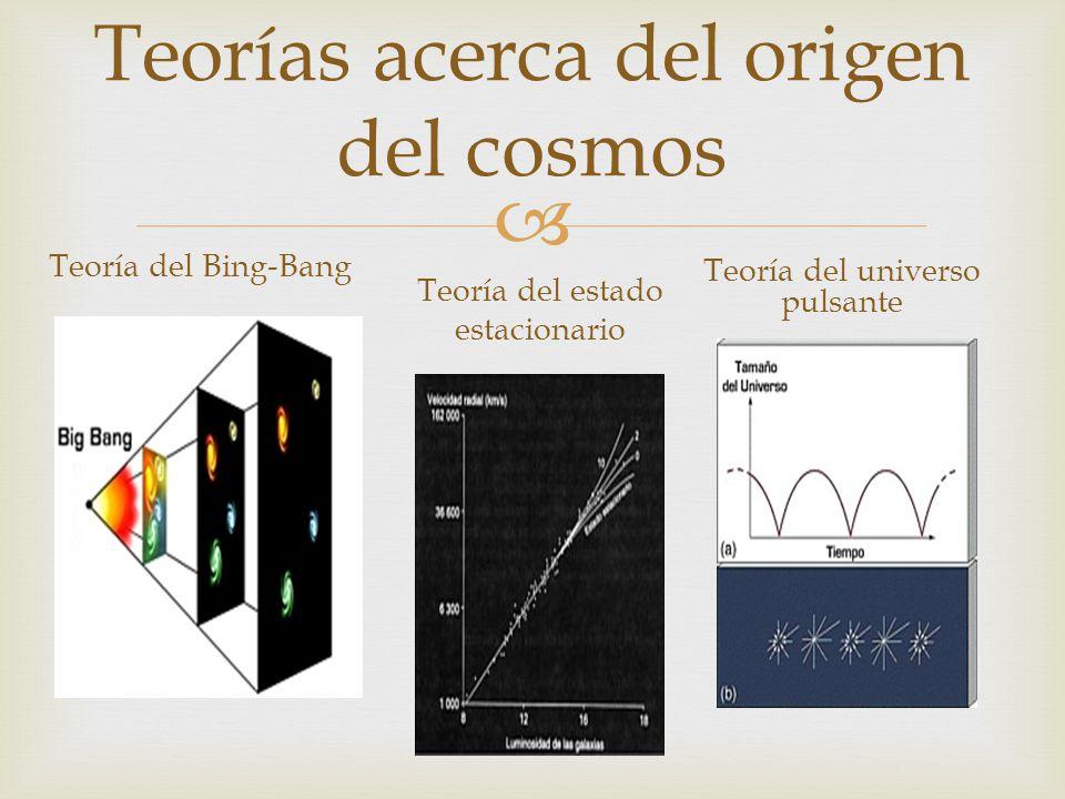 Teorías acerca del origen del cosmos