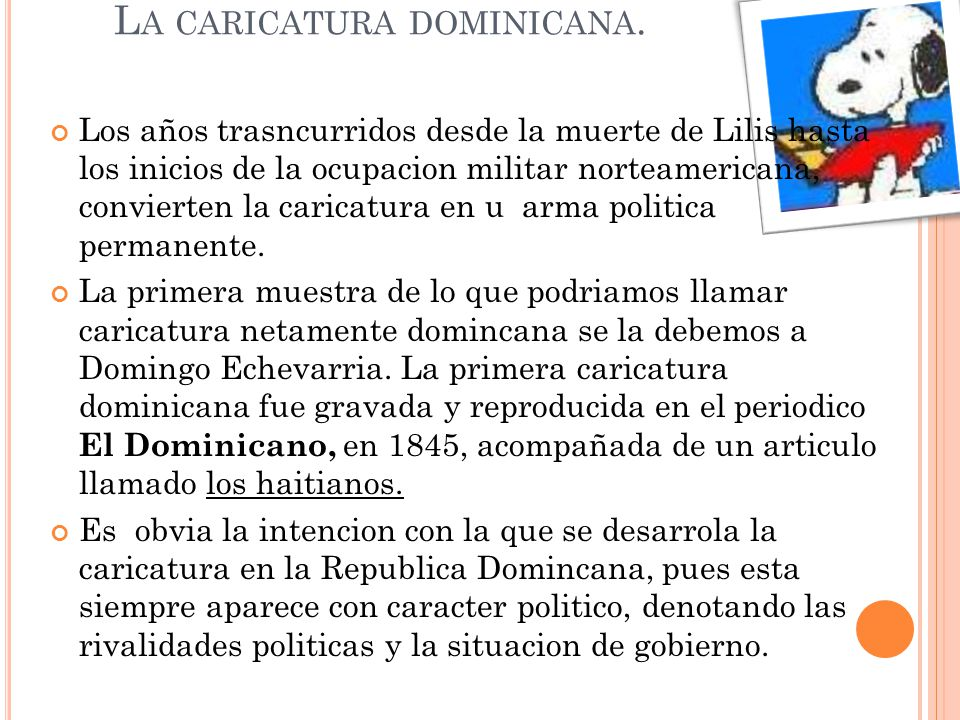 La caricatura dominicana.