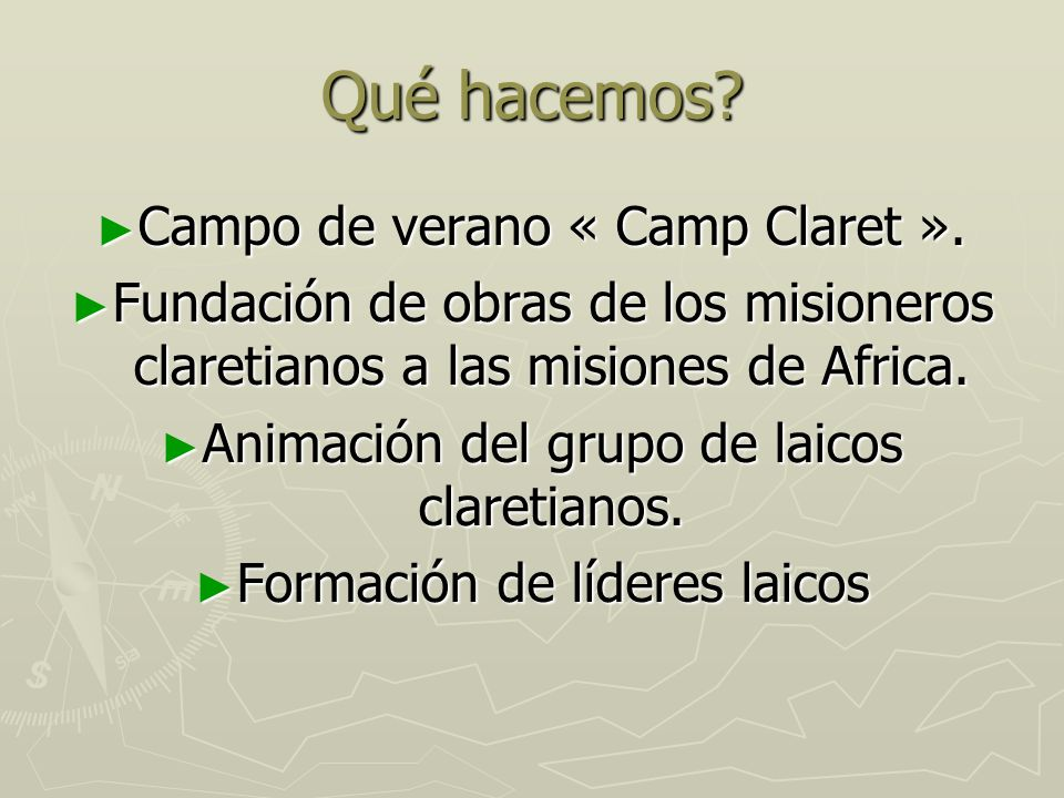 Qué hacemos Campo de verano « Camp Claret ».