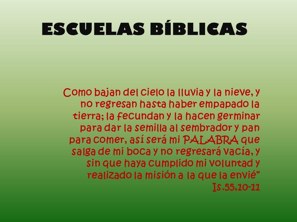 ESCUELAS BÍBLICAS