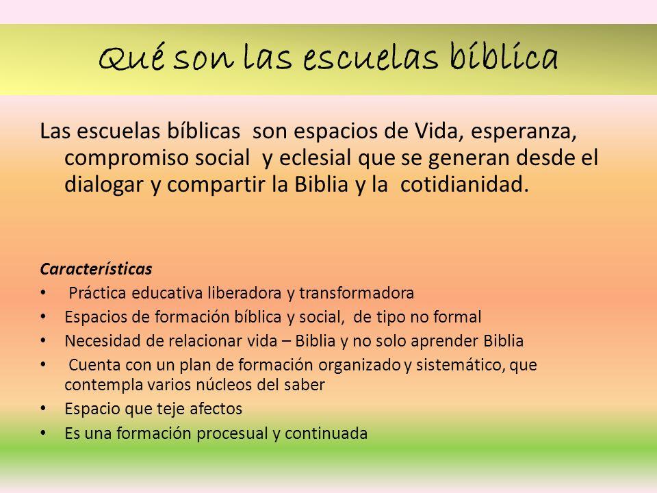 Qué son las escuelas bíblica
