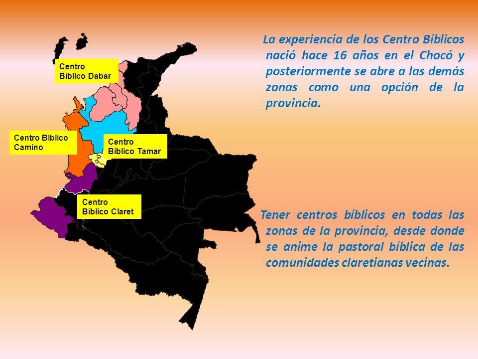 La experiencia de los Centro Bíblicos nació hace 16 años en el Chocó y posteriormente se abre a las demás zonas como una opción de la provincia.