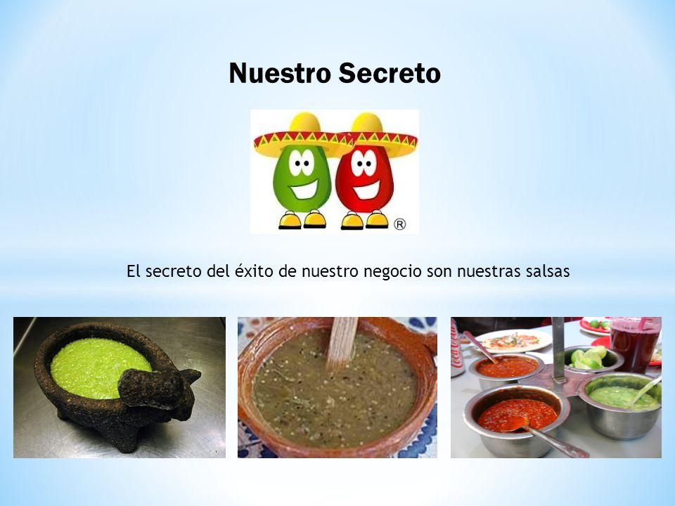 Nuestro Secreto El secreto del éxito de nuestro negocio son nuestras salsas
