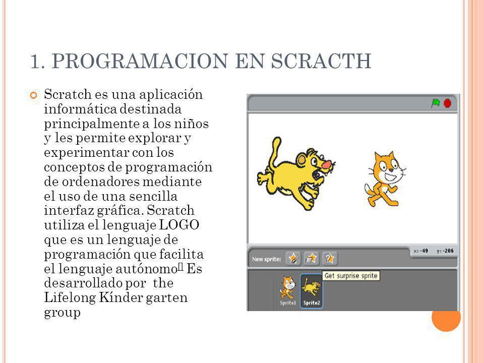 1. PROGRAMACION EN SCRACTH