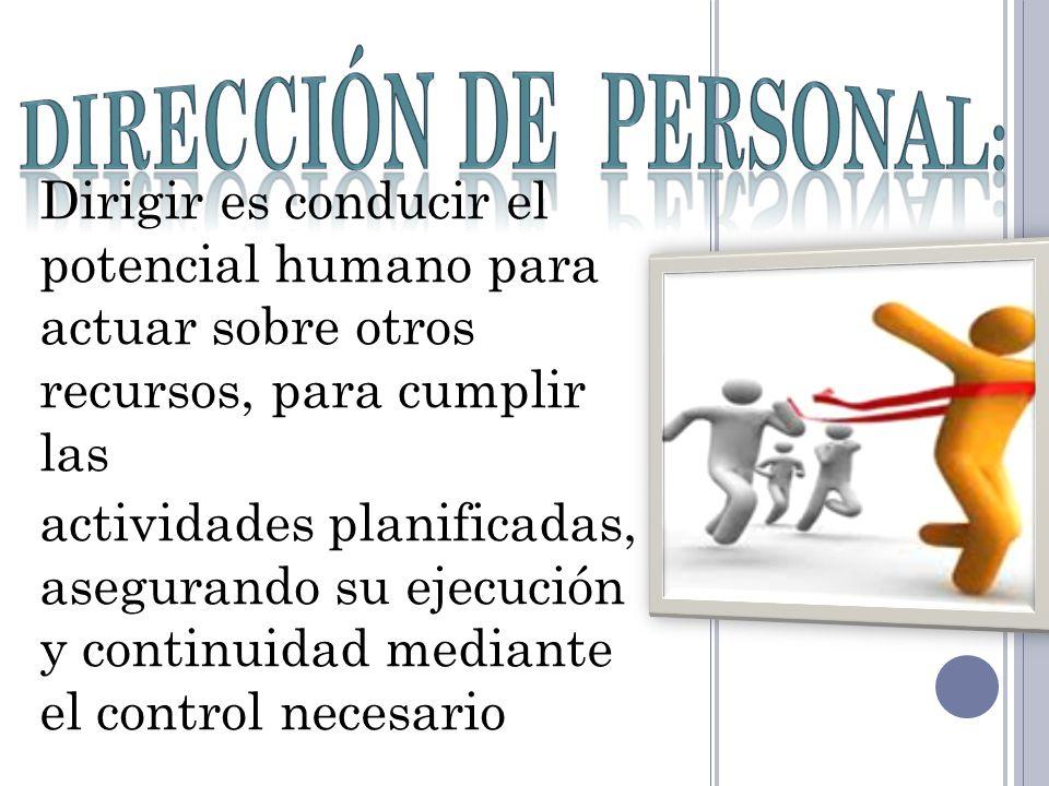 Dirección de personal: