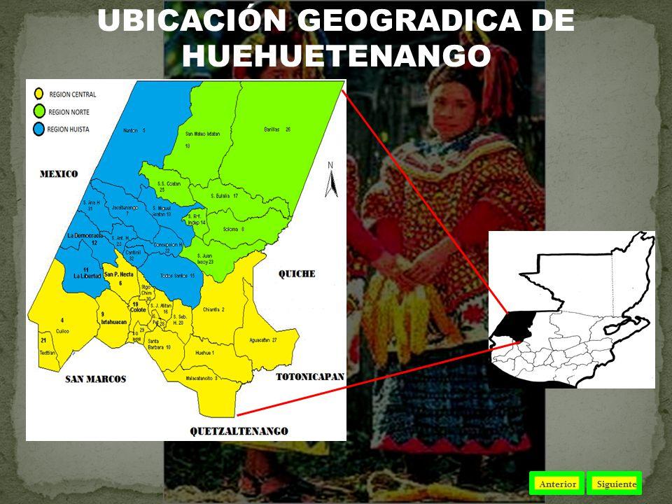 UBICACIÓN GEOGRADICA DE HUEHUETENANGO