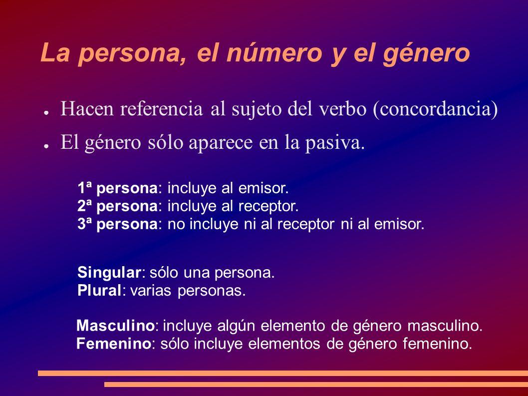 La persona, el número y el género