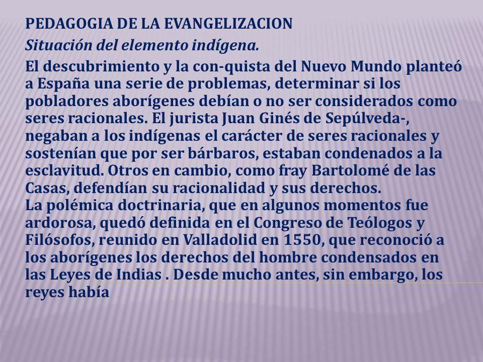 PEDAGOGIA DE LA EVANGELIZACION