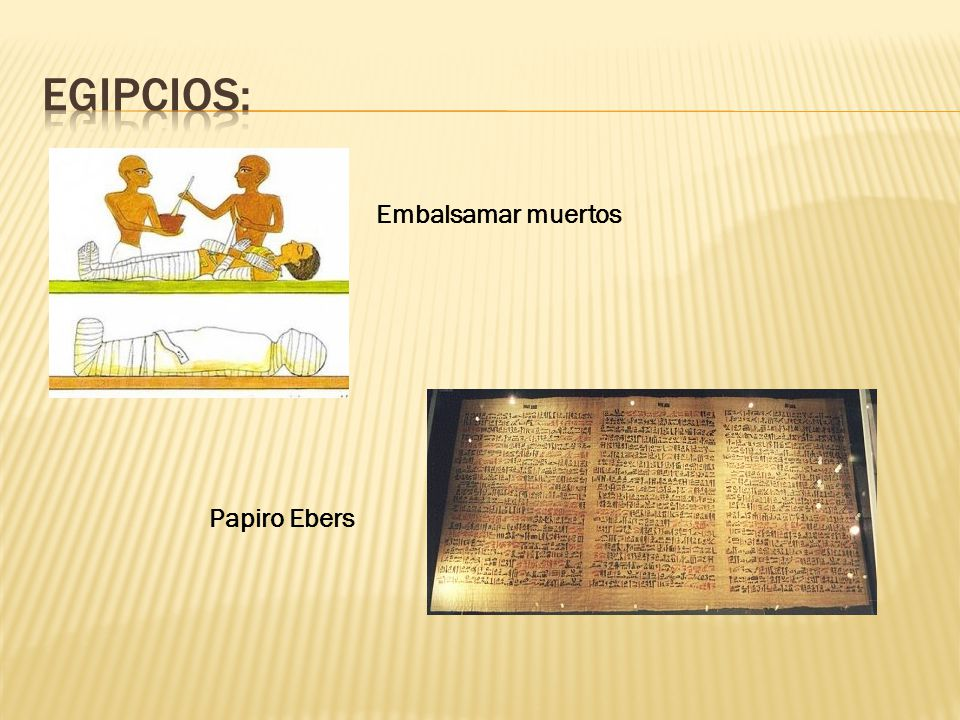 Egipcios: Embalsamar muertos Papiro Ebers
