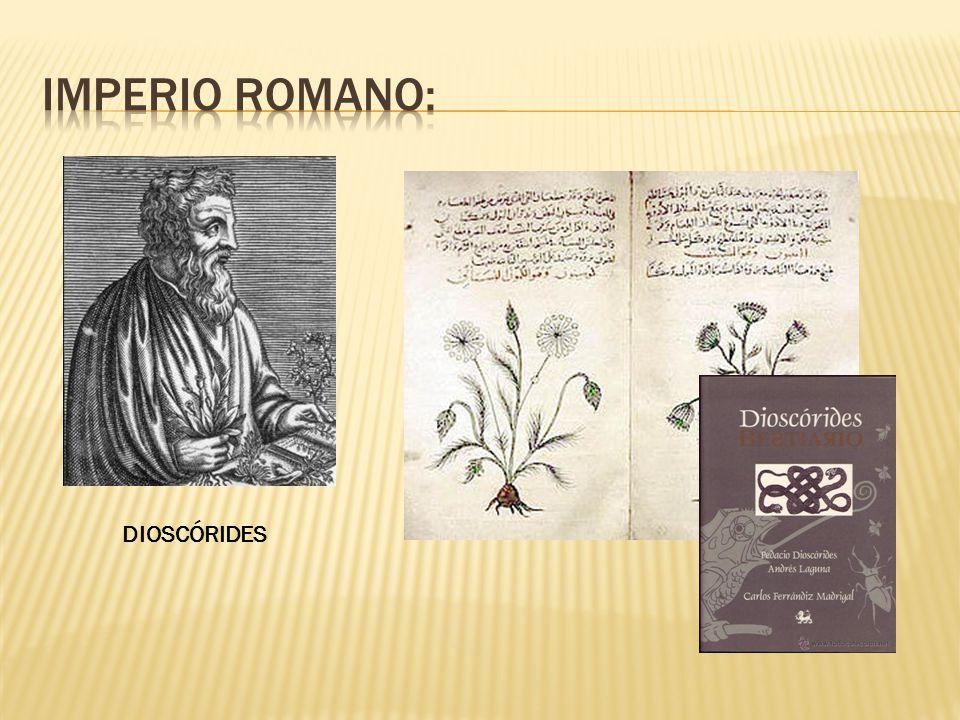 Imperio Romano: DIOSCÓRIDES