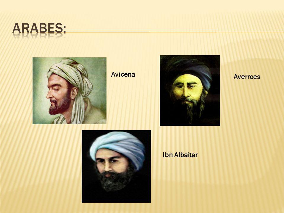 Arabes: Avicena Averroes Ibn Albaitar