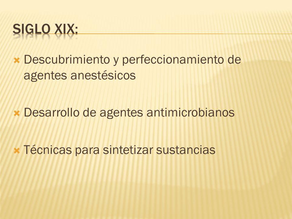 Siglo XIX: Descubrimiento y perfeccionamiento de agentes anestésicos