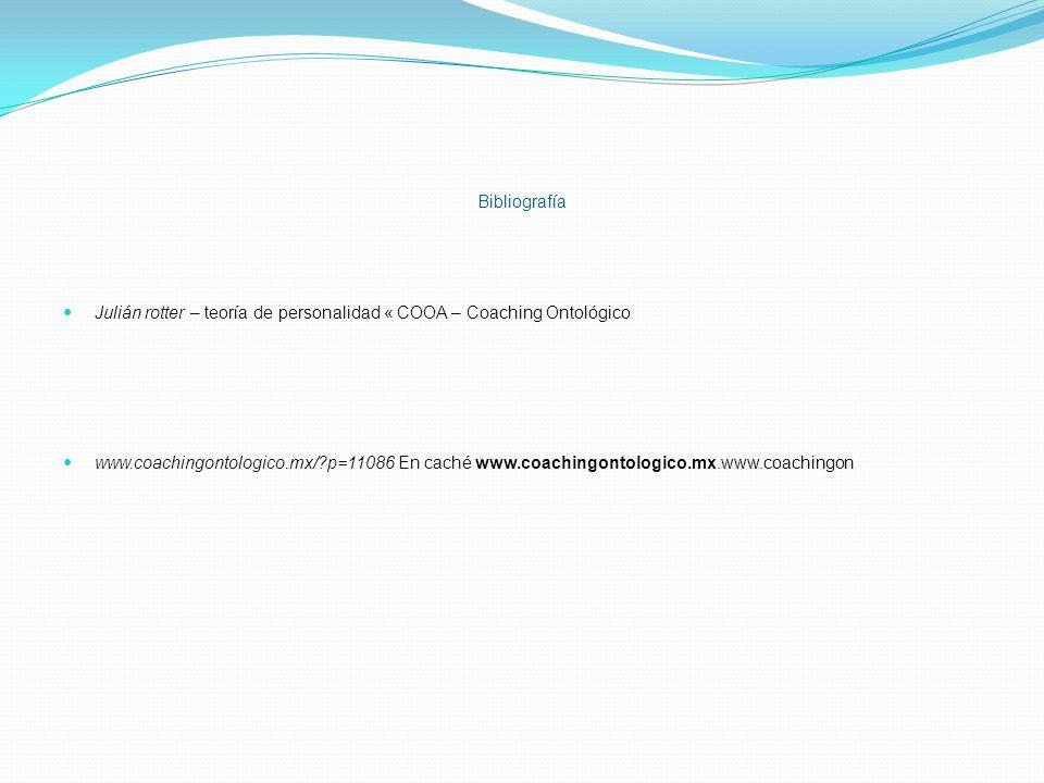 Bibliografía Julián rotter – teoría de personalidad « COOA – Coaching Ontológico.