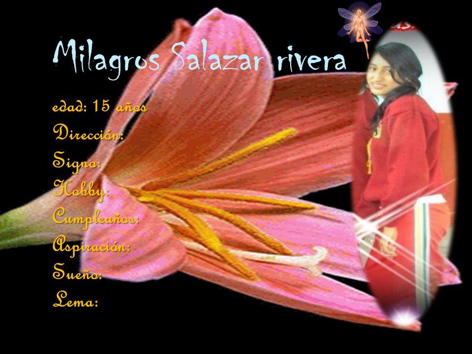 Milagros Salazar rivera
