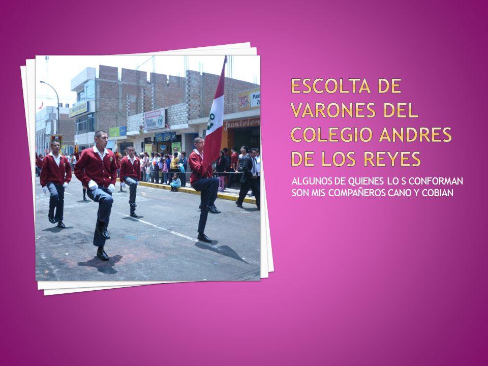 ESCOLTA DE VARONES DEL COLEGIO ANDRES DE LOS REYES