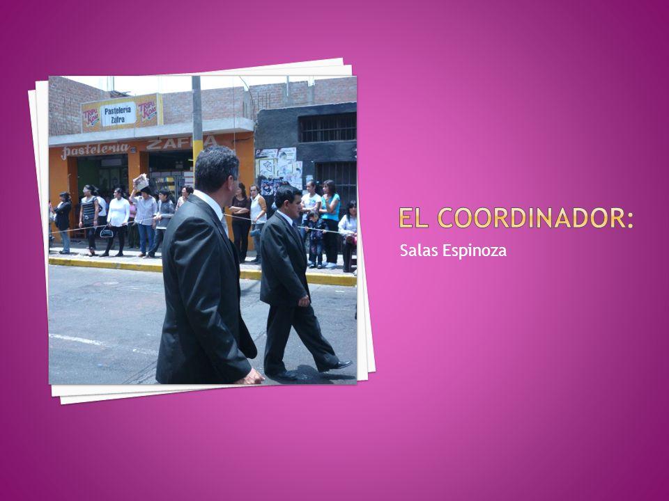 El coordinador: Salas Espinoza