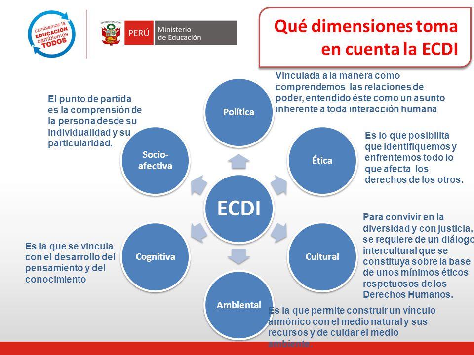 Qué dimensiones toma en cuenta la ECDI