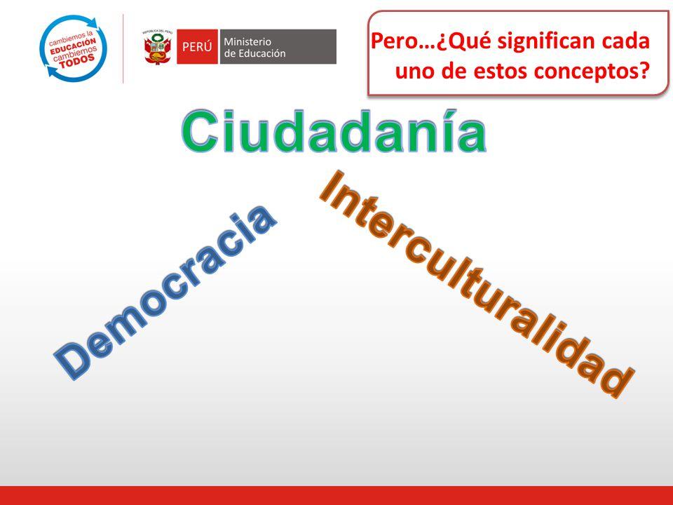Ciudadanía Interculturalidad Democracia