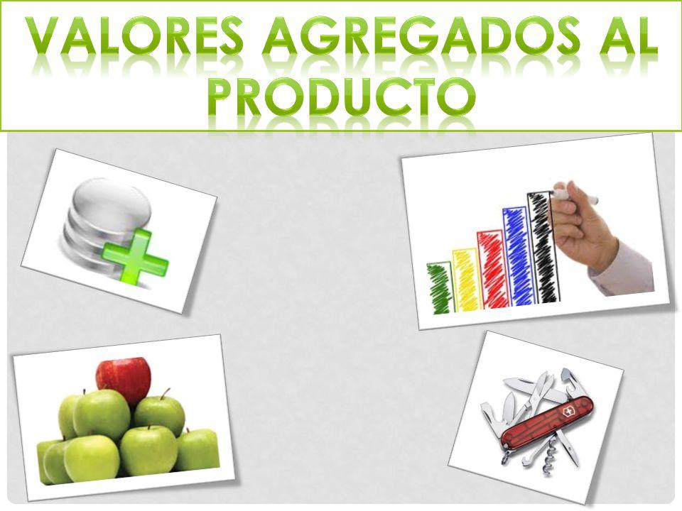 Valores agregados al producto